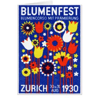 Cartão Mostra de flor de 1930 suíços