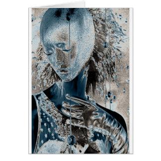 Cartão Mostrando a dor com a arte