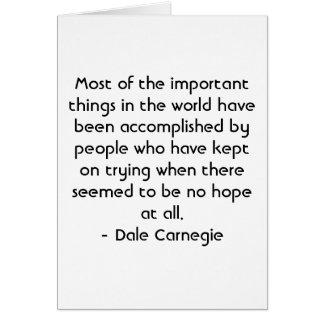 Cartão Motivação espanhola - Dale Carnegie