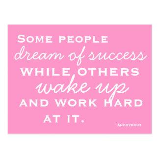 Cartão motivado e inspirado