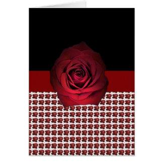 Cartão Motivo da fita da rosa vermelha por DelynnAddams