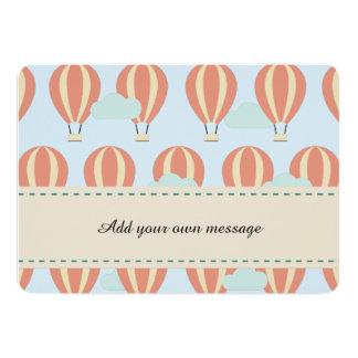 Cartão Motivos dos balões de ar quente