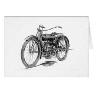 Cartão Motocicleta 1918 do vintage