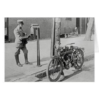 Cartão Motocicleta Carteiro, 1909