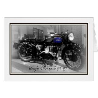 Cartão Motocicleta de Douglas
