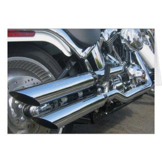 Cartão Motocicleta de Harley