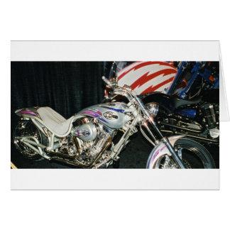 Cartão Motocicleta feita sob encomenda americana de VTwin