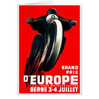 Cartão Motocicleta grande européia de 1939 Prix que