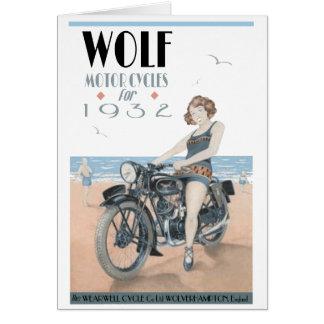 Cartão Motocicletas do lobo