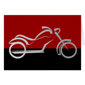 Cartão motociclista da bicicleta do velomotor do