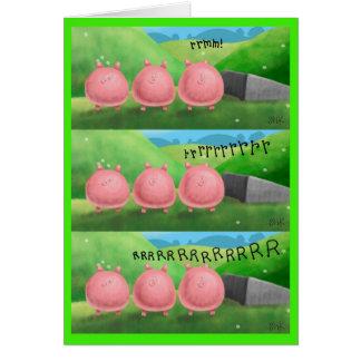 Cartão Motociclista do porco do dia dos pais