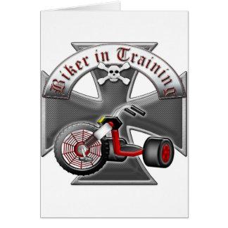 Cartão Motociclista no treinamento