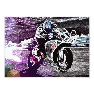 Cartão motocross biking da sujeira que compete o