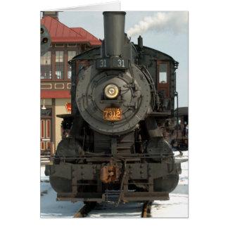 Cartão Motor 31 da estrada de ferro de Strasburg