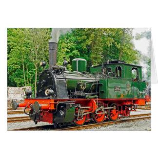 Cartão Motor de vapor verde