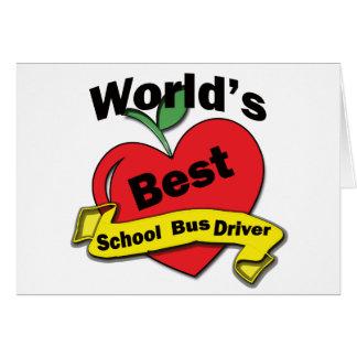 Cartão Motorista de auto escolar do mundo o melhor