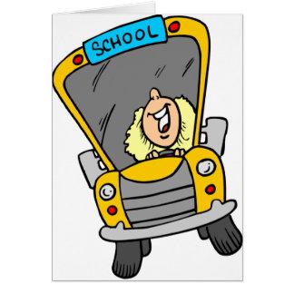 Cartão Motorista de auto escolar fêmea