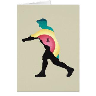 Cartão Motorista do golfe do disco