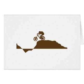 Cartão Mountain bike