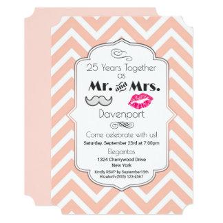 Cartão Moustache & lábios Sr. & Sra. - aniversário