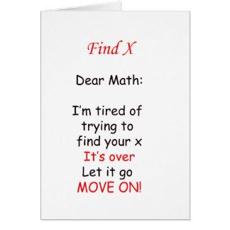 Cartão Mova-se na matemática