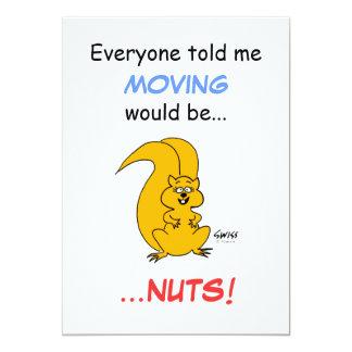 Cartão movente do anúncio do esquilo bonito dos