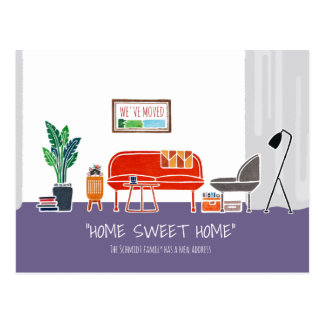 Cartão movente do anúncio do _HOME DOCE HOME