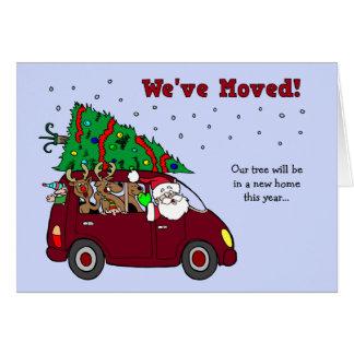 Cartão movente do anúncio do Natal