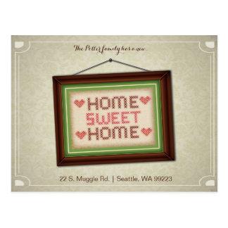 Cartão movente Home doce Home do anúncio