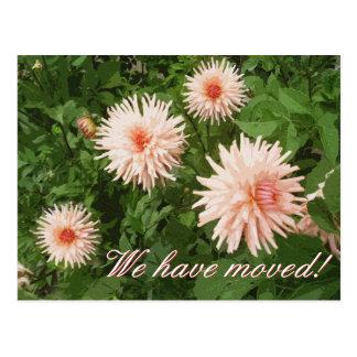 Cartão moventes elegantes com flor do crisântemo