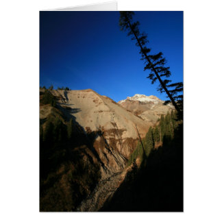 Cartão Mt. Capa através da garganta do ziguezague