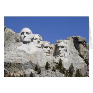 Cartão Mt Rushmore