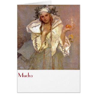 Cartão Mucha, Christams em América
