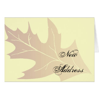 Cartão Mudança da folha do carvalho do outono de endereço