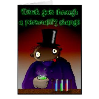 Cartão Mudança da personalidade