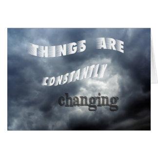 Cartão Mudança das coisas