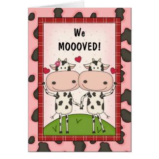 Cartão Mudança de endereço - vacas