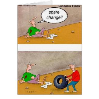 Cartão Mudança de reposição: Presentes engraçados poucos