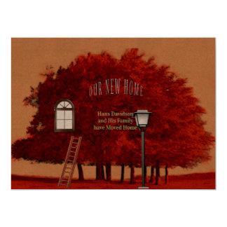 Cartão Mudança do endereço da casa de Livart
