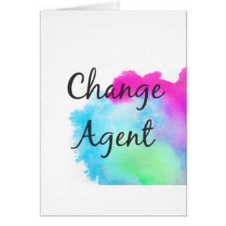 Cartão Mude o agente