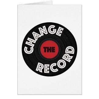 Cartão Mude o registro
