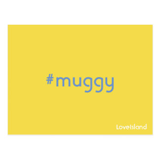 Cartão Muggy da ilha do amor de Hashtag
