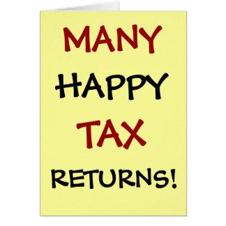 Cartão Muitas declarações de rendimentos felizes!