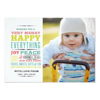 Cartão Muito alegre tudo