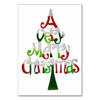 Cartão Muito árvore do Feliz Natal