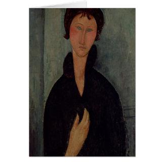 Cartão Mulher com olhos azuis, c.1918
