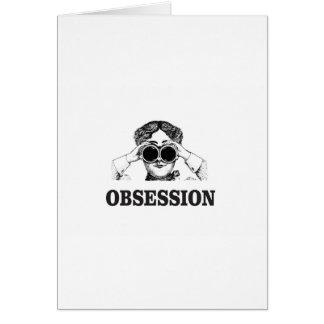 Cartão mulher da obsessão