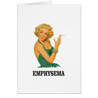 Cartão mulher do matar do enfisema