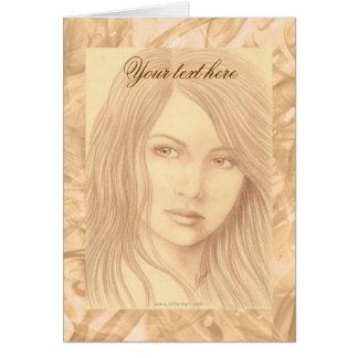 Cartão Mulher do Sepia II