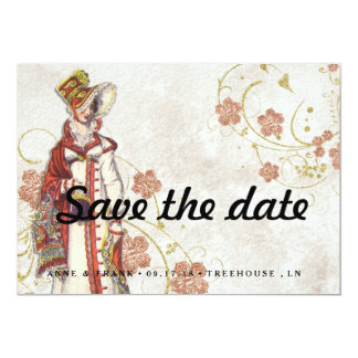 Cartão Mulher do Victorian